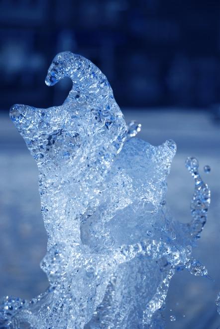 Magic water, magic nature, beautiful blue effect