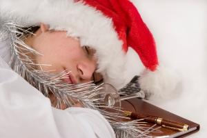 New Year, Christmas, drunk clerk